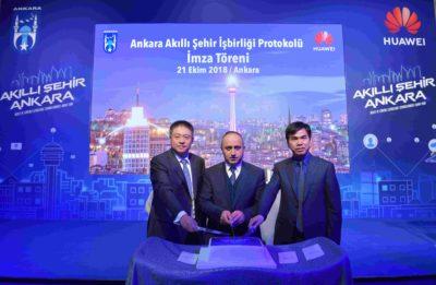 Ankara Büyükşehir Belediyesi ve Huawei Sincan Harikalar Diyarı'nı birlikte akıllandırdılar.
